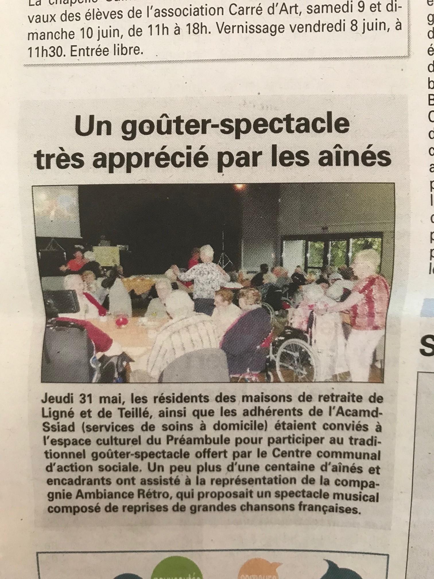 Sortie des résidents au Préambule le 31/05/2018